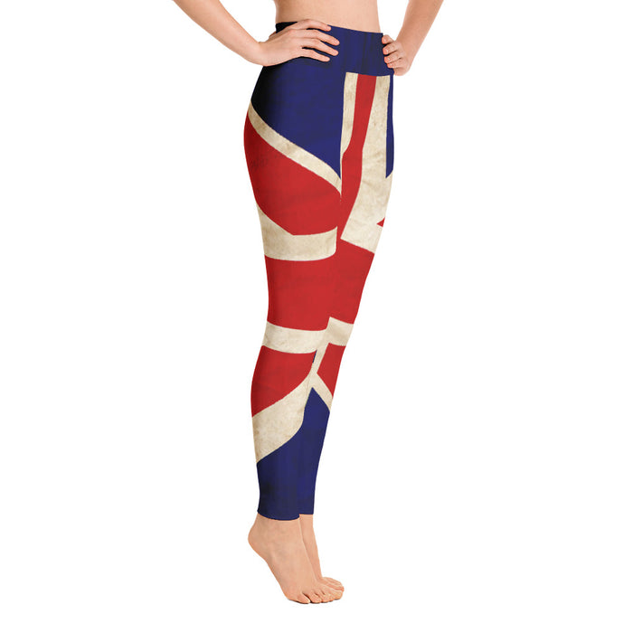 Cute Britsh Flag Yoga Leggings (Union Jack Leggins)