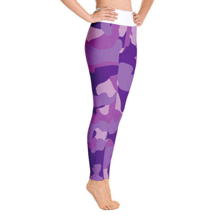 Cute Purple Camo Yoga Leggings