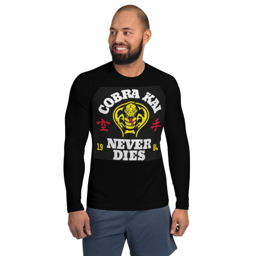 Cobra Kai Men's Rash Guard - Cobra Kai Mens Rashie - Cobra Kai BJJ Rash Guard