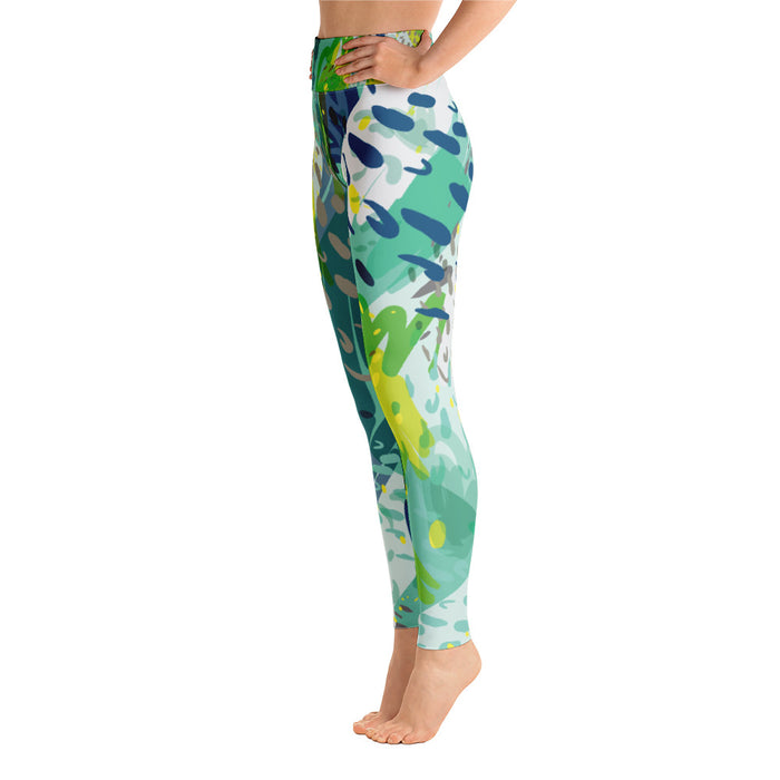Wild Color Splash Yoga Leggings