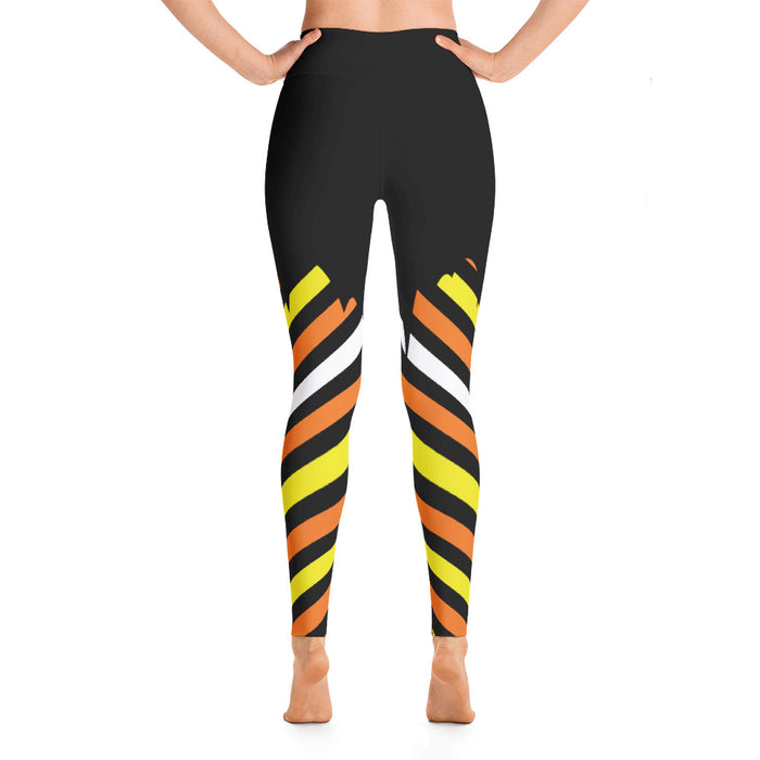 Cude Candy Stripe Halloween Yoga Leggings