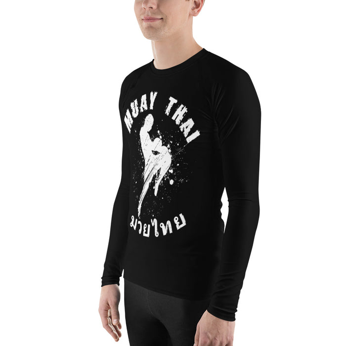 Cool Muay Thai Rash Guard - Made in the US Men's MT Rash Guard (for Bjj, Judo and More)