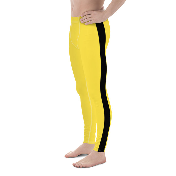 Kill Bill Style Yellow Men's Spats  - Bruce Lee Yellow Jumpsuit Leggings- Game of Death Spats