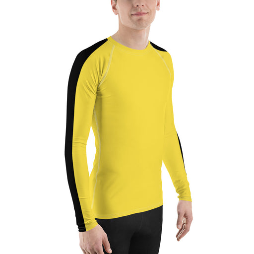 yellow rash guard, mens rash guard yellow, yellow rashguards