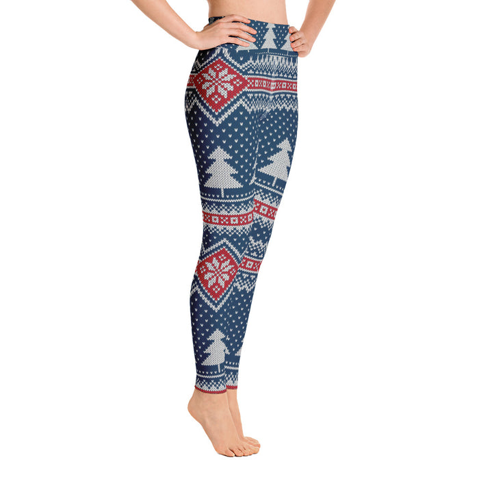 Xmas Tree Ugly Sweater Yoga Leggings