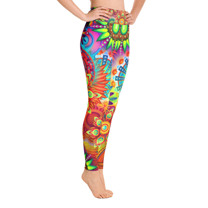 Funky Psychedelic Themed Yoga Leggings