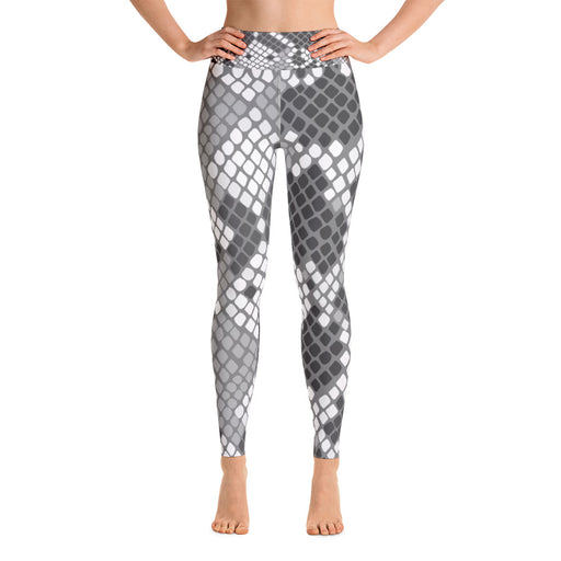 Cute Black White Snake Pattern Yoga Leggings