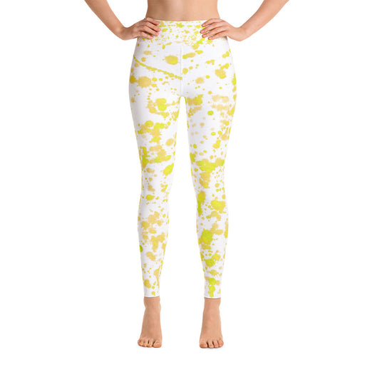 Yellow Spatter Yoga Leggings
