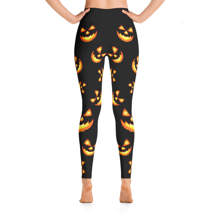 Cool Halloween Pumpkin Yoga Leggings
