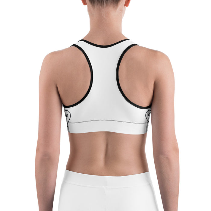 Classic Lotus Theme Yoga Sports Bra