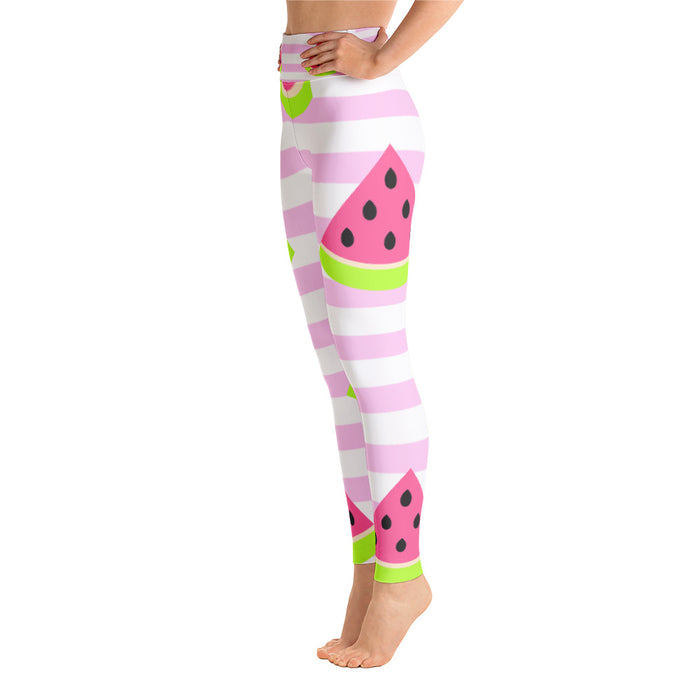 Cute Watermelon Yoga Leggings