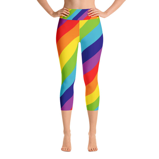 Rainbow Yoga Capri Leggings