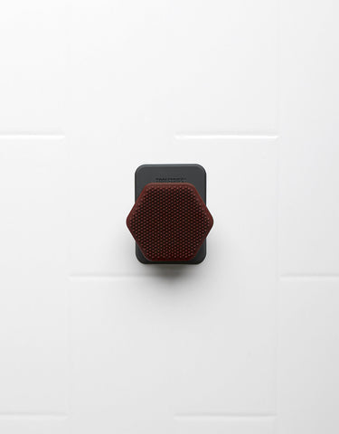 Tooletries - Face Scrubber & Holder, Gentle, Burgundy