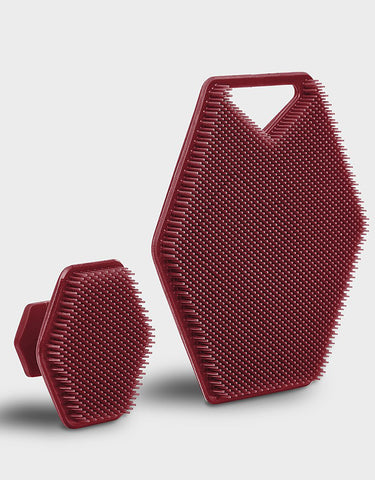 Tooletries - The Face & Body Scrubber Set, Burgundy