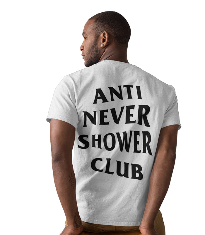 ANSC - Anti Never Shower Club Tee White