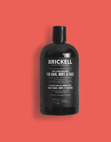 Brickell Men's Product - Rapid Wash Spicy Citrus