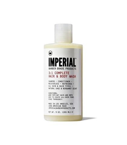 Imperial Barber Grade Products - 3:1 Complete Hair & Body Wash
