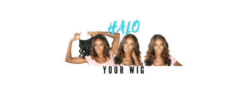halo your lace wig with azul hair collection halo hair extension clip in piece