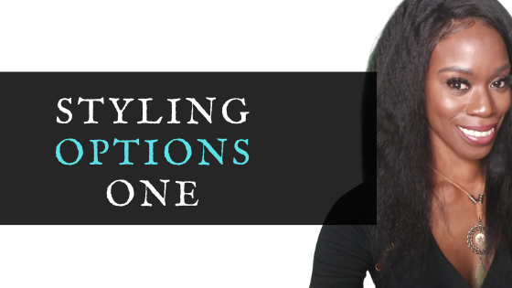 how to style a kinky straight lace wig by azul hair collection
