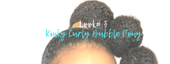 kinky curly bubble ponytail by azul hair collection @azulhaircollection #azulhaircollection