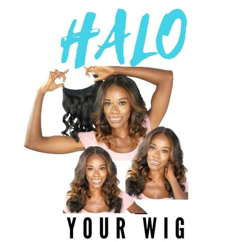 halo hair extension by azul hair collection also known as a clip in hair extension or flapper hair extension
