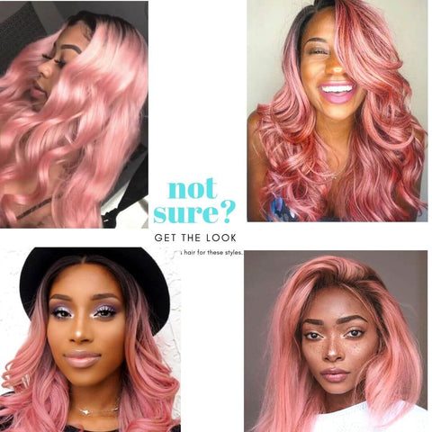 azul hair collection ombre pastel pink lace wig