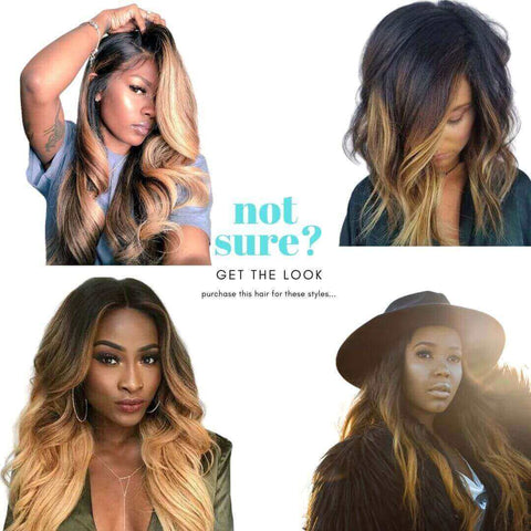 Brazilian Hair - Swiss Light Brown Lace Front Wig - Honey Blonde  Ombre - Wavy Style by azul hair collection