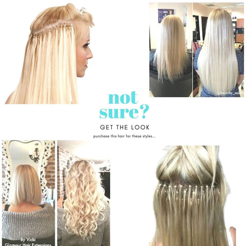 azul hair collection 613 blonde microbead hair extensions