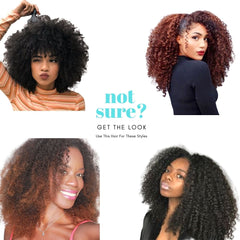 Brazilian Hair - HD Film Lace Front Wig - Kinky Curly Style