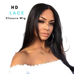 Brazilian Hair - Swiss HD Film Lace Lace 4x4 Closure Wig - Straight Style   150%  Density