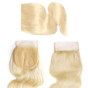 Brazilian Hair Lace Closure - Full Color Blonde - Wavy Style - azulhaircollection Azul Hair Collection