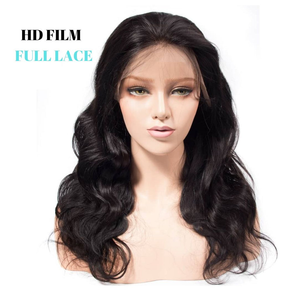 Brazilian HD Film Lace Wig - Loose Wave - Full Lace  150% Density