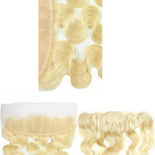 Brazilian Hair Lace Frontal - Full Color Blonde - Wavy
