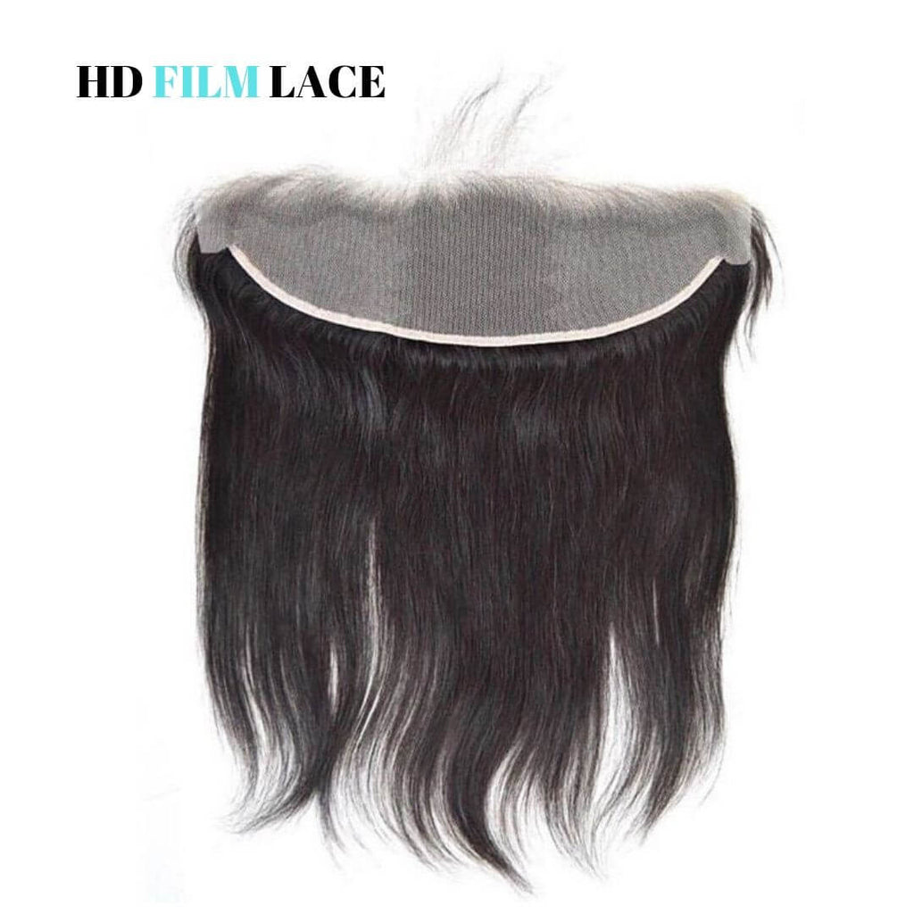 Brazilian Hair HD Film Lace Frontal - Ear to Ear - Straight Style