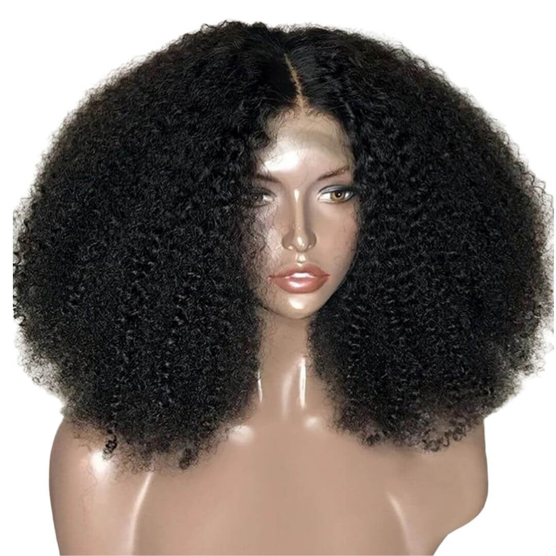 Brazilian Hair Swiss Lace 4x4 Lace Closure Wig Kinky Curly Style Azul Hair Collection