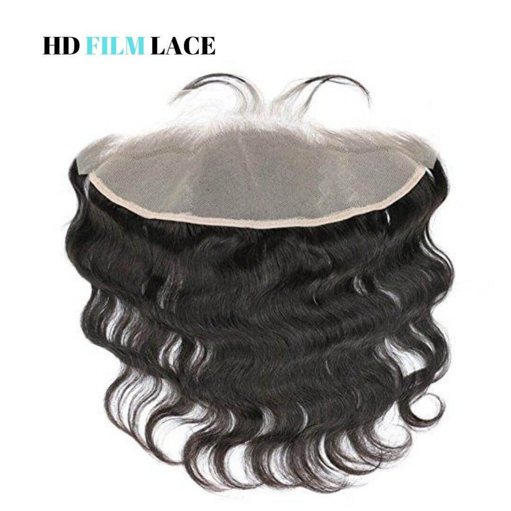 Brazilian Hair HD Film Lace Frontal - Ear to Ear - Wavy Style