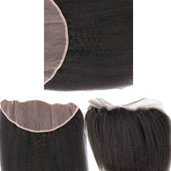 Brazilian Hair Lace Frontal - Kinky Straight Style