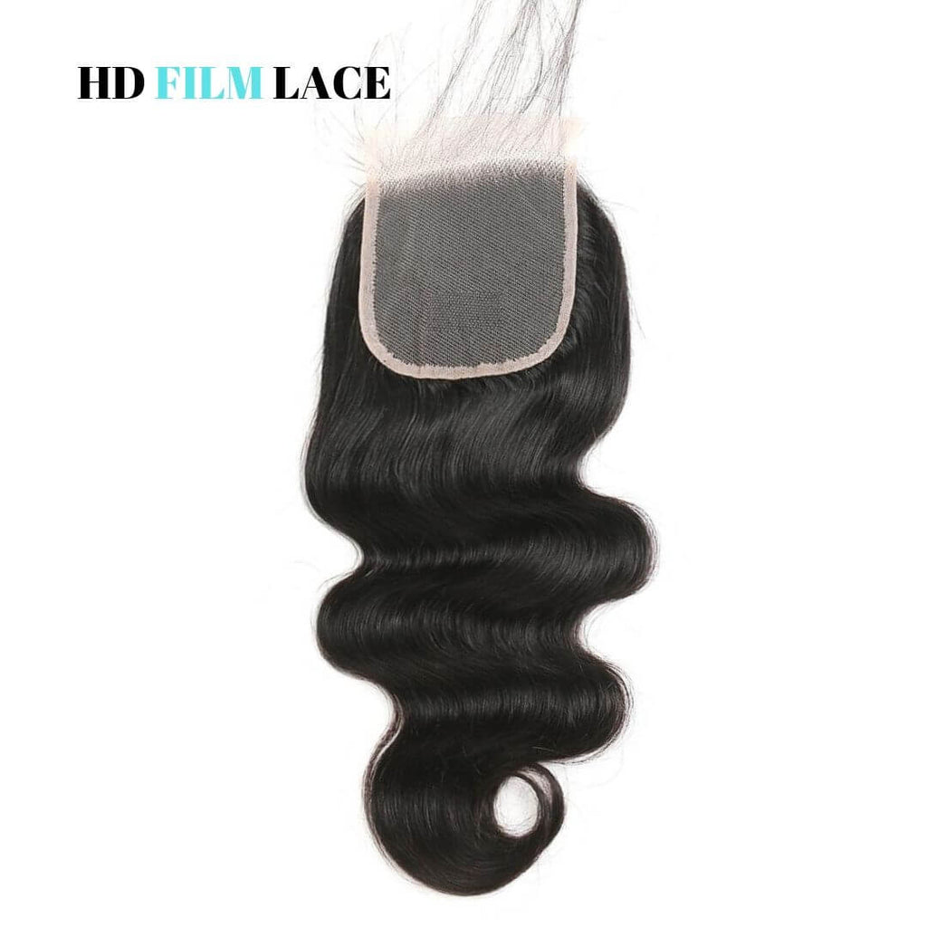 Brazilian Hair HD Film Lace Closure - Wavy Style