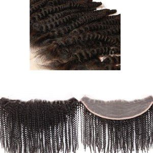 Brazilian Hair Lace Frontal- Ear to Ear - Afro Kinky Style - azulhaircollection Azul Hair Collection