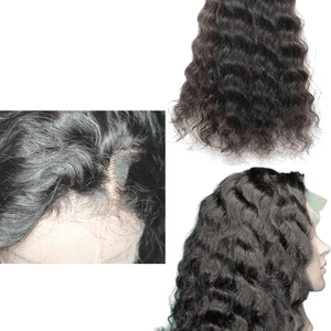 Brazilian Hair - Swiss Transparent Lace Front Wig - Exotic Wave Style