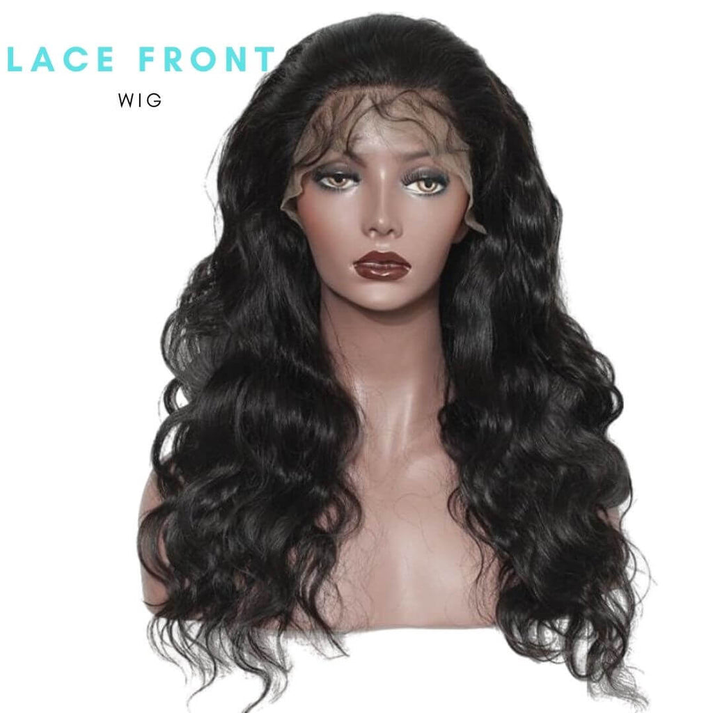 Brazilian Hair - Swiss Brown Lace Front Wig - Wavy Style
