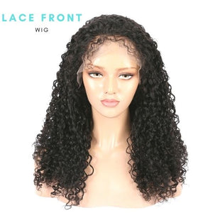 Brazilian Swiss Light Brown Lace Wig - Brazilian Curl   13x6 Lace Front Wig  150% and 180% Densit by azul hair collection