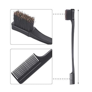 Gentle Double Sided Edge Brush/Comb by Azul Hair Collection