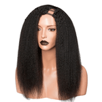Brazilian Human Hair -  U Part Wig - Kinky Straight Style