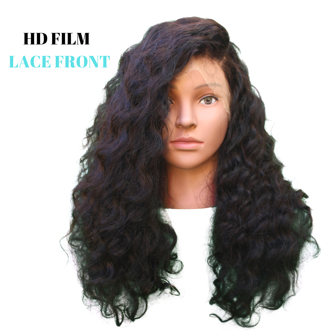 Brazilian Hair - HD Film Lace Front Wig - Exotic Wave Style @azulhaircollection Azul hair collection #azulhaircollection