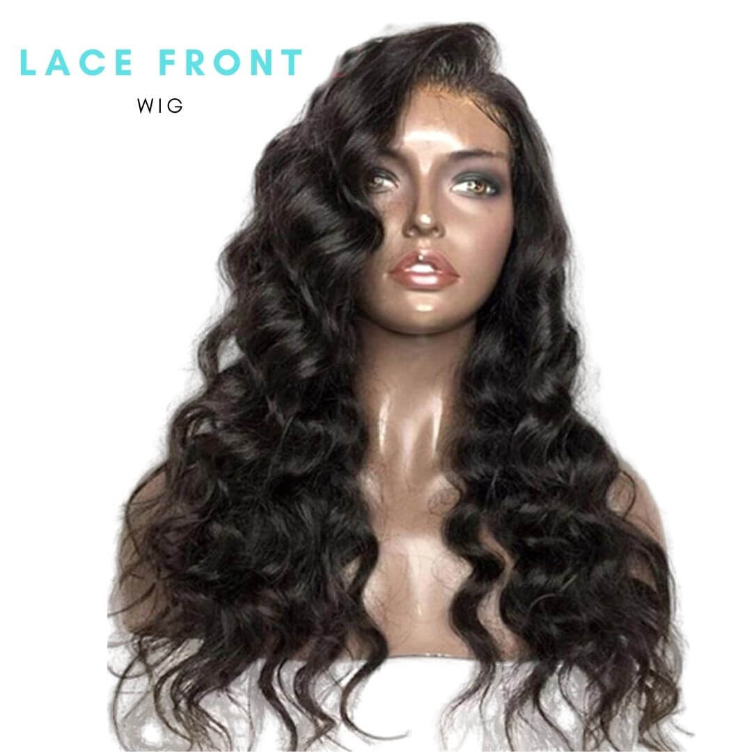 Brazilian Hair - Swiss Brown Lace Front Wig - Exotic Wave Style by Azul Hair Collection