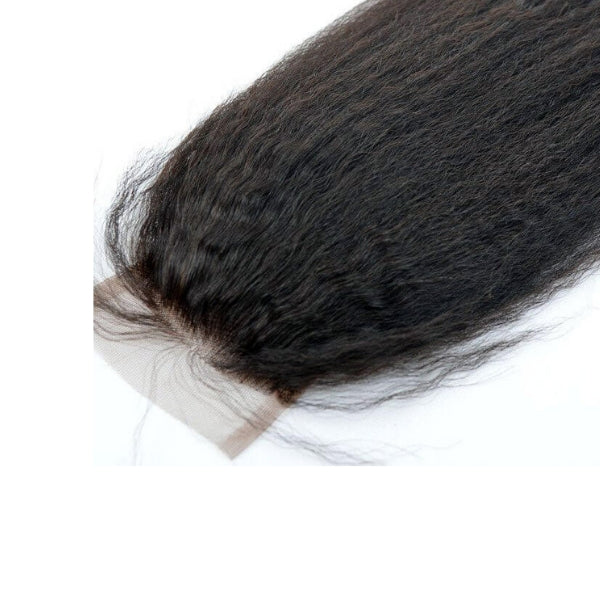 Brazilian Hair Lace Closure - Kinky Straight Style - azulhaircollection Azul Hair Collection