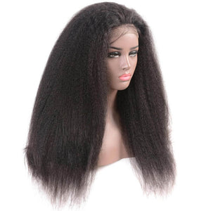 Brazilian Hair - Swiss Lace 4x4 Lace Closure Wig - Kinky Straight Style by azul hair collection