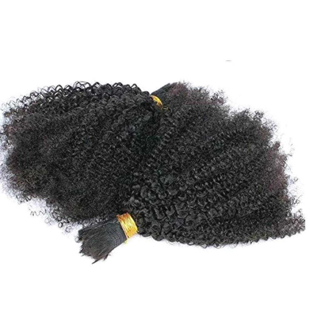 WHOLESALE:   Brazilian Bulk Hair - Kinky Curly Texture