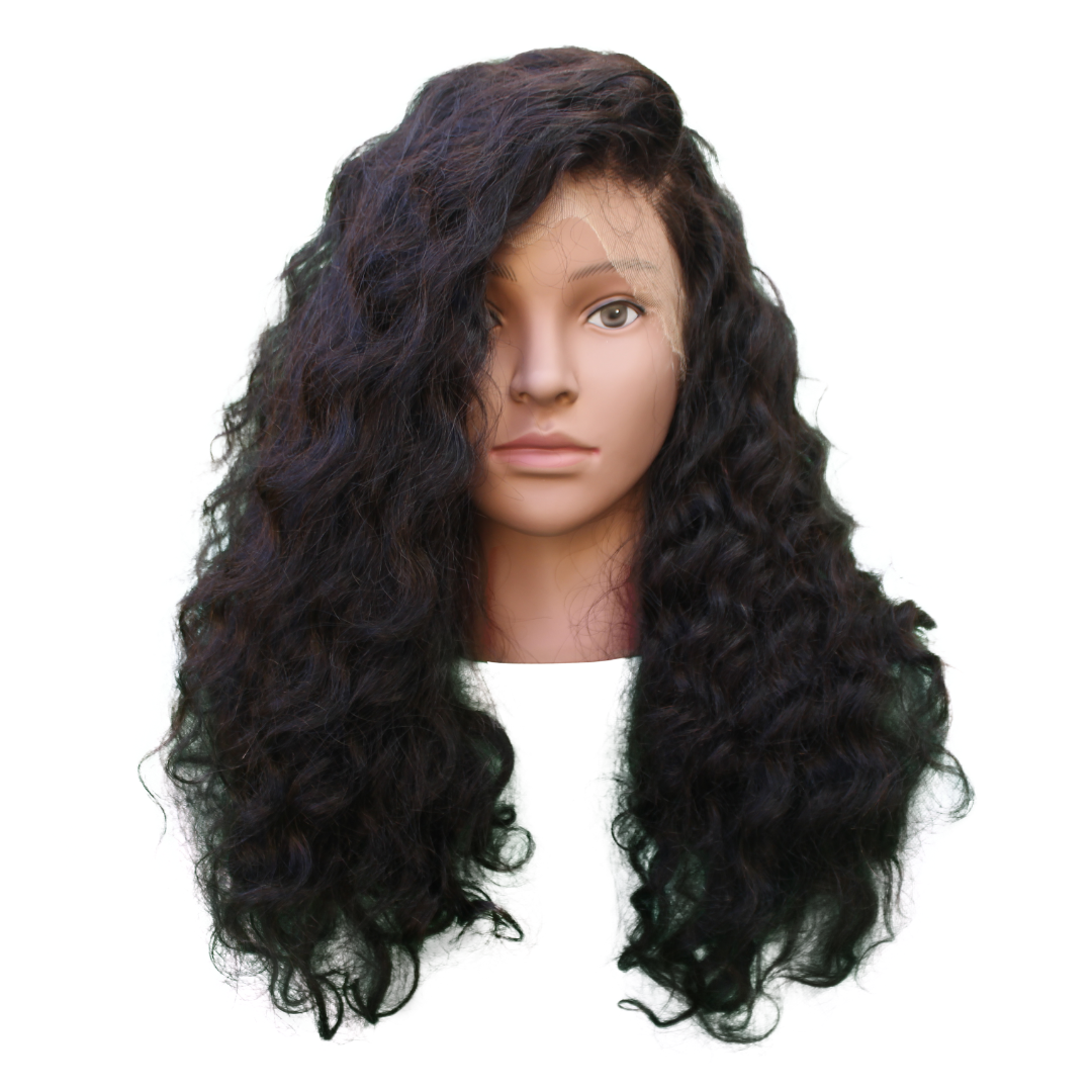 Brazilian Hair - Swiss HD Film Lace 4x4 Lace Closure Wig - Exotic Wave Style